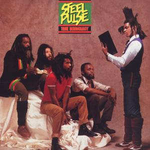 Portada del disco True Democracy de Steel Pulse